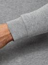 Свитшот базовый с круглой горловиной oodji #SECTION_NAME# (серый), 5B113000M/44119N/2300M - вид 4