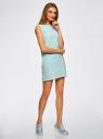Платье из ткани пике oodji #SECTION_NAME# (синий), 14005074-1B/46149/7010S - вид 6