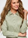 Рубашка базовая с нагрудными карманами oodji #SECTION_NAME# (зеленый), 11403222B/42468/6612D - вид 4