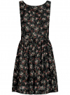 Платье из струящейся ткани с бантом на спине oodji #SECTION_NAME# (черный), 11900181-2B/35271/2941F