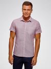 Рубашка приталенная с нагрудным карманом oodji #SECTION_NAME# (красный), 3L210047M/44425N/1045G - вид 2