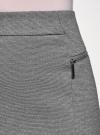 Юбка прямая с декоративными молниями oodji #SECTION_NAME# (серый), 24100026-1/38261/2500M - вид 4