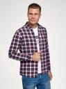Рубашка хлопковая с длинным рукавом oodji #SECTION_NAME# (красный), 3L310197M/50176N/4979C - вид 2