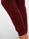 Брюки спортивные на завязках oodji для женщины (красный), 16701051B/47883/4900N