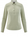 Рубашка базовая с нагрудными карманами oodji #SECTION_NAME# (зеленый), 11403222B/42468/6612D
