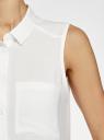 Топ вискозный с рубашечным воротником oodji #SECTION_NAME# (белый), 14911009B/26346/1200N - вид 5