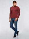 Пуловер базовый с V-образным вырезом oodji #SECTION_NAME# (красный), 4B212007M-1/34390N/4C00M - вид 6