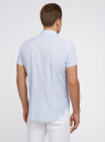 Рубашка клетчатая с коротким рукавом oodji для мужчины (белый), 3L210030M/44192N/1070C