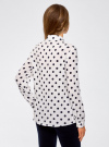 Блузка вискозная прямого силуэта oodji #SECTION_NAME# (белый), 11411098-3/24681/1279D - вид 3