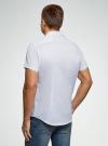 Рубашка хлопковая с коротким рукавом oodji #SECTION_NAME# (белый), 3L210058M/49030N/1075G - вид 3