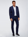 Пиджак приталенный на пуговицах oodji #SECTION_NAME# (синий), 2L420234M/48579N/7900O - вид 6