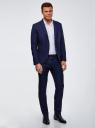 Пиджак приталенный на пуговицах oodji для мужчины (синий), 2L420234M/48579N/7900O