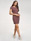 Платье трикотажное принтованное oodji для женщины (красный), 14001117-7/16564/4912G - вид 6