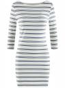 Платье трикотажное базовое oodji #SECTION_NAME# (белый), 14001071-2B/46148/1279S