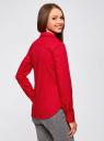 Рубашка базовая из хлопка oodji для женщины (красный), 11403227B/14885/4500N