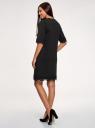 Платье прямого силуэта с кружевом oodji #SECTION_NAME# (черный), 14008033-1/48881/2991P - вид 3