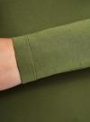 Футболка с длинным рукавом (комплект из 2 штук) oodji для женщины (зеленый), 24201007T2/46147/6900N - вид 4