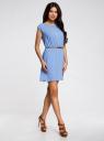 Платье вискозное без рукавов oodji #SECTION_NAME# (синий), 11910073B/26346/7501N - вид 6