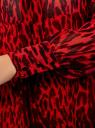 Платье шифоновое с асимметричным низом oodji #SECTION_NAME# (красный), 11913032/38375/4529A - вид 5