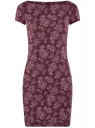 Платье трикотажное с принтом oodji для женщины (красный), 14001117-2/16564/4941E