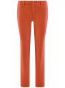 Брюки легкие прямые oodji для женщины (оранжевый), 11700195/35669/5900N