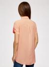 Блузка из вискозы с нагрудными карманами oodji #SECTION_NAME# (оранжевый), 11400391-4B/24681/5400N - вид 3