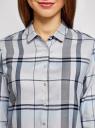 Блузка принтованная из вискозы oodji для женщины (серый), 11411098-4/45208/2079C