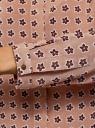Блузка принтованная из вискозы с воротником-стойкой oodji для женщины (бежевый), 21411063-1/26346/3512F