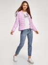 Куртка-бомбер на молнии oodji #SECTION_NAME# (фиолетовый), 10203061-1B/33445/8001N - вид 6