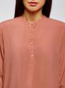 Блузка вискозная А-образного силуэта oodji для женщины (розовый), 21411113B/42540/4B02N