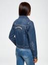 Куртка джинсовая со значками oodji #SECTION_NAME# (синий), 11109031/46654/7900W - вид 3
