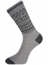 Комплект носков из 3 пар oodji для женщины (разноцветный), 57102905T3/47613/6