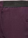 Брюки укороченные на эластичном поясе oodji #SECTION_NAME# (фиолетовый), 11706203-5B/14917/8801N - вид 5