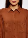 Блузка базовая из вискозы с карманами oodji #SECTION_NAME# (коричневый), 11400355-4/26346/3900N - вид 4