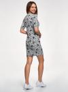 Платье трикотажное с воротником-стойкой oodji #SECTION_NAME# (серый), 14001229/47420/2029O - вид 3