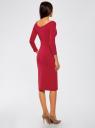 Платье облегающее с вырезом-лодочкой oodji #SECTION_NAME# (красный), 14017001-6B/47420/4901N - вид 3