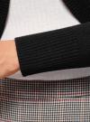 Жакет-болеро трикотажный oodji #SECTION_NAME# (черный), 64A12316-1B/45109/2900N - вид 5