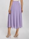 Юбка миди из струящейся ткани с мягкими складками oodji для женщины (фиолетовый), 21600285/17358/8000N
