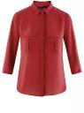 Блузка из струящейся ткани с регулировкой длины рукава oodji для женщины (красный), 11403225-1B/45227/4500N