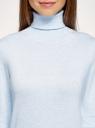 Свитер вязаный базовый oodji для женщины (синий), 74412005-5B/45647/7000M