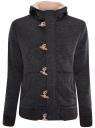 Куртка трикотажная утепленная с отделкой из искусственного меха oodji #SECTION_NAME# (серый), 5L911027M/44353N/2500M