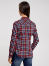 Рубашка принтованная хлопковая oodji #SECTION_NAME# (красный), 11406019/43593/4979C - вид 3