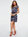 Платье вискозное без рукавов oodji #SECTION_NAME# (синий), 11910073B/26346/7941F - вид 6