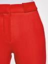 Брюки зауженные со стрелками oodji для женщины (красный), 21706027-1/35589/4902N