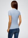 Водолазка хлопковая с коротким рукавом oodji для женщины (синий), 15E11011/48037/7000N