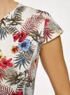Платье-футляр с ремнем oodji #SECTION_NAME# (разноцветный), 22C02003/14522/3019F - вид 5