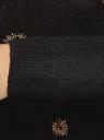 Джемпер вязаный с вышивкой бисером oodji #SECTION_NAME# (черный), 63807353/47104/2994P - вид 5