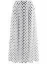 Юбка со складками из струящейся ткани oodji #SECTION_NAME# (белый), 21600285-2B/17358/1279D