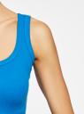 Майка базовая oodji для женщины (синий), 14315001B/45307/7500N