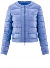 Куртка стеганая с круглым вырезом oodji для женщины (синий), 10203050-2B/47020/7502N